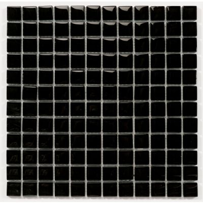 Kristallmosaiek 'Chrystal Black' 30 x 30 x 0.8 cm