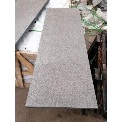 Mauerabdeckung grau-schwarzer Granit 'Angkor Black'100 x 25 x 3 cm